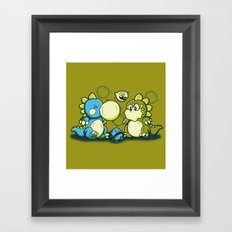 BUBBLE JOKE Framed Art Print