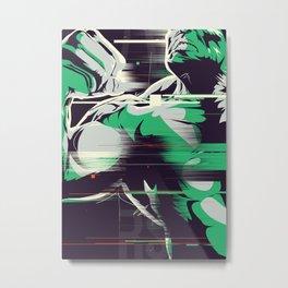 Glitch Hulk Metal Print