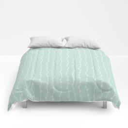 Willow Stripes - Sea Foam Green Comforters