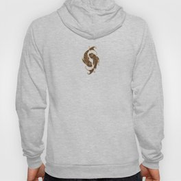 Vintage Rustic Pisces Zodiac Sign Hoody