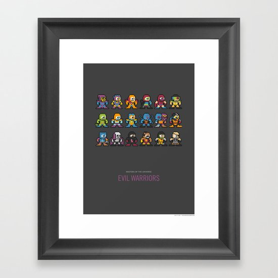 Mega MotU: Evil Warriors Framed Art Print