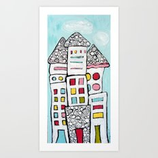 White Houses Art Print