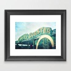 turbo coaster Framed Art Print