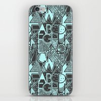 alphabet iPhone & iPod Skins featuring Alphabet by Clare Corfield Carr