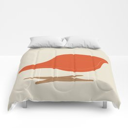 Orange La Chaise Chair by Charles & Ray Eames Comforters