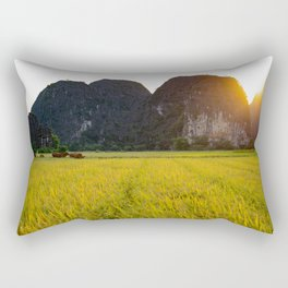 Bringing the cows home before dark Rectangular Pillow