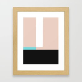 Mid Century Modern Vintage Framed Art Print
