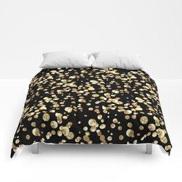 Golden confetti. Brilliant . Comforters