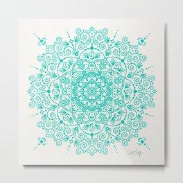 Moroccan Mandala – Turquoise Palette Metal Print
