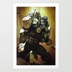 hulk v.s. juggernaut Art Print