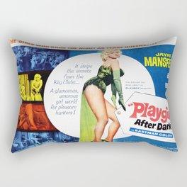 Vintage British Film Poster - Too Hot to Handle (1960) Rectangular Pillow