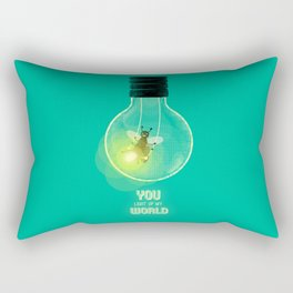 You Light Up My World Rectangular Pillow