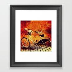 Yellow Cycle Framed Art Print