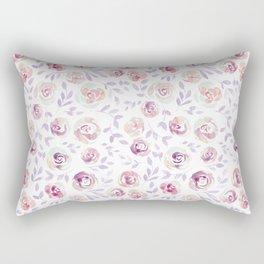 Floral Rose #1 | Lilac, Mint & Blush Palette Rectangular Pillow