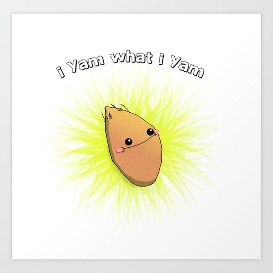 """i yam what i yam"" Art Print"