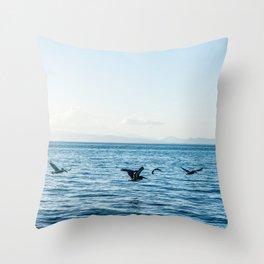 Flying Flock Throw Pillow