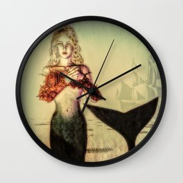 The Lonely Mermaid Wall Clock