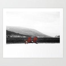 Chairs at the Lake, 2011 Art Print