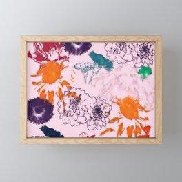fall floral pink Framed Mini Art Print