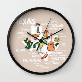 Classic Texas Icons Wall Clock