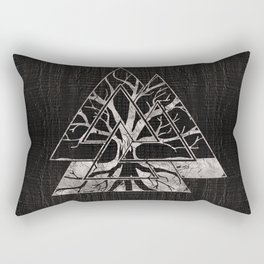 Valknut Symbol and Tree of life  -Yggdrasil Rectangular Pillow