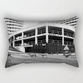 A Curious Herd Rectangular Pillow
