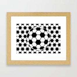 Black and White 3D Ball pattern deign Framed Art Print