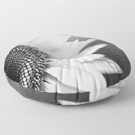B&W Sunflower Floor Pillow