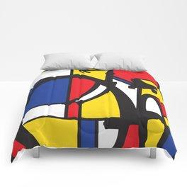 Mondrian bicycle Comforters