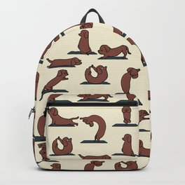 Dachshund yoga Backpack