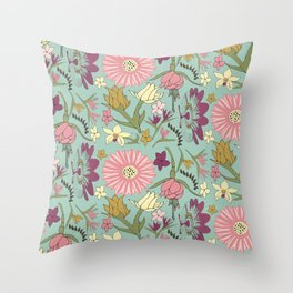 Yet While I Live Throw Pillow