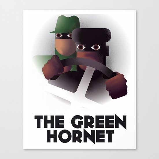 Cassandre Spirit - The green hornet Canvas Print