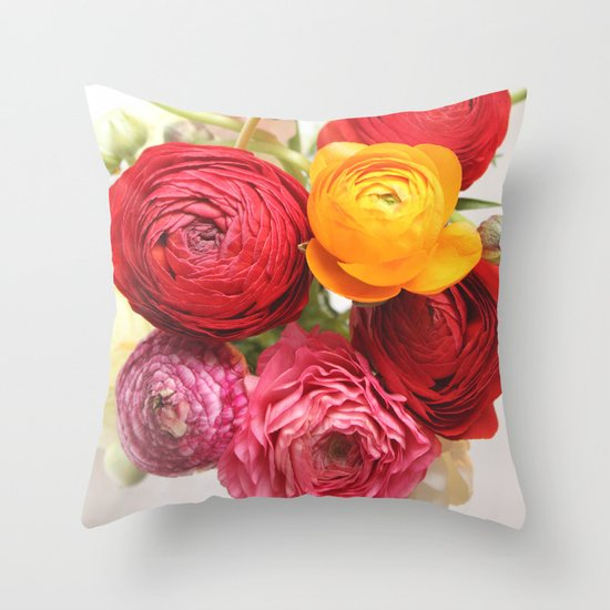 (Ranunculus) Flowers - For You! Throw Pillow