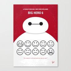 No649 My Big Hero 6 minimal movie poster Canvas Print