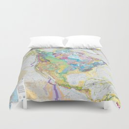 USGS Geological Map of North America Duvet Cover