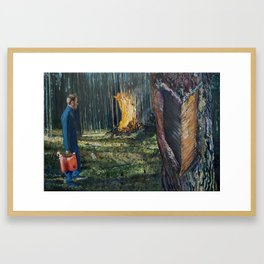Take the Heat Framed Art Print