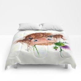 Thistle MacKenzie-McMoo by Fiona Bárcenas Comforters