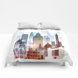 London city skyline, United Kingdom Comforters