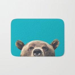 Bear - Blue Bath Mat