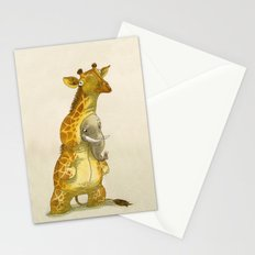 Elephant in a giraffe costume Stationery Cards