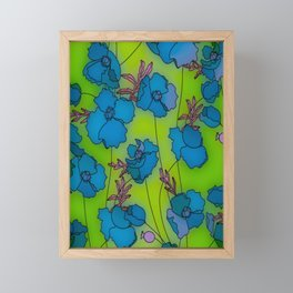 Neon Floral Composition Framed Mini Art Print