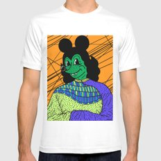 THE GREEN LADY. Mens Fitted Tee White MEDIUM