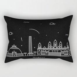 Nagpur Minimal Nightscape / Skyline Drawing Rectangular Pillow