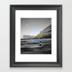 Girl & ocean Framed Art Print