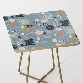 Lunar Pattern: Blue Moon Side Table