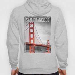 Vintage Style San Fransico Golden Gate Bridge T-shirt Hoody