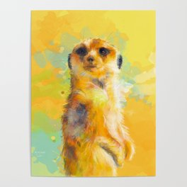 Dear Little Meerkat Poster