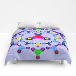 Fidget Spinner design version 2 Comforters