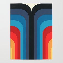 Retro Rainbow 01 Poster