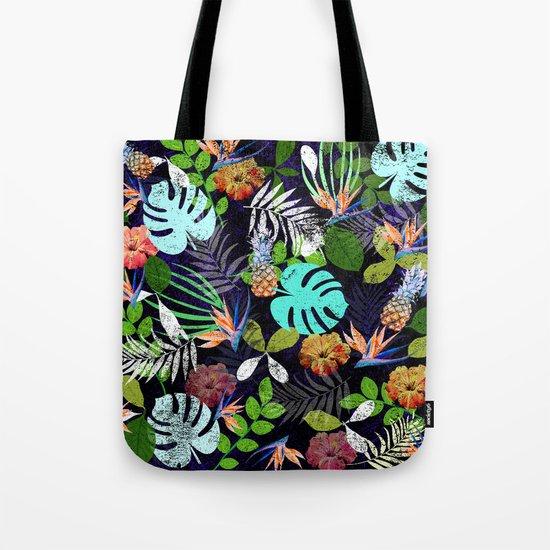 Tropical garden at night Tote Bag